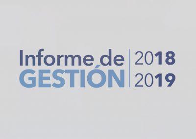 Informe de Gestión 2018 – 2019